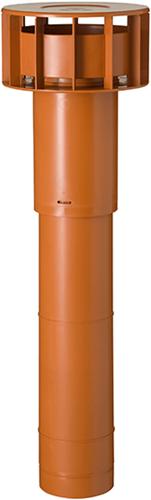 Ubbink Multivent dakdoorvoer Ø 131mm terracotta 270m³/h - lengte 750mm