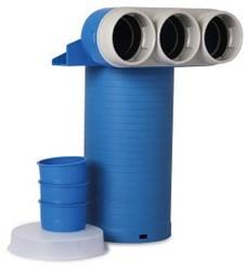 Uniflexplus ventielcollector 3 x Ø 63mm met schuifhuls 250mm en speciedeksel Ø 125
