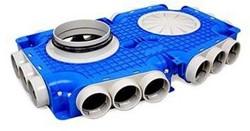 Uniflexplus ventilatie hoofdverdeelbox 18x Ø63 mm met tuit Ø160mm