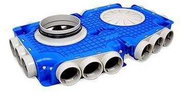 Vent-Axia Uniflexplus ventilatie hoofdverdeelbox 18x Ø63mm met tuit Ø180mm