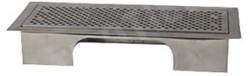 Uniflexplus ventilatie instelbaar vloerrooster met gaten geborsteld RVS