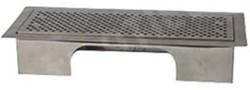 Uniflexplus ventilatie instelbaar vloerrooster met gaten gepolijst RVS
