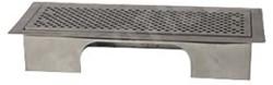 Uniflexplus ventilatie instelbaar vloerrooster met gaten Wit
