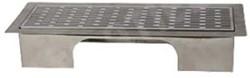 Uniflexplus ventilatie instelbaar vloerrooster met sleuven geborsteld RVS