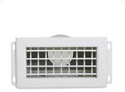 Uniflexplus ventilatie muurcollector met instelbare lamellen en een achteraansluiting Ø 90mm