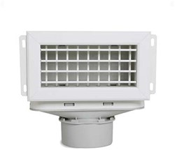 Uniflexplus ventilatie muurcollector met instelbare lamellen en een bovenaansluiting Ø 90mm