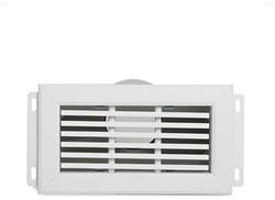 Uniflexplus ventilatie muurcollector met vaste lamellen en een achteraansluiting Ø 90mm