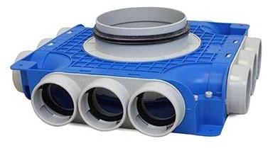 Vent-Axia Uniflexplus ventilatie subverdeelbox 12x diameter 63 mm met tuit diameter 125 mm