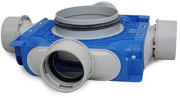 Vent-Axia Uniflexplus ventilatie subverdeelbox 4x Ø90 mm met tuit Ø125 mm