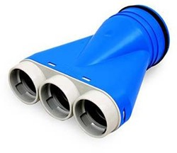 Uniflexplus ventilatie ventielcollector Ø 63mm met tuit Ø 125mm