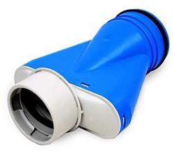 Uniflexplus ventilatie ventielcollector Ø 90mm met tuit Ø 125mm