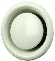 Ventilatie afvoer ventielen metaal 100mm wit met montagebus - DM100-1