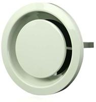 Ventilatie afvoer ventielen metaal 125 mm wit met klemveren - EFF125-1