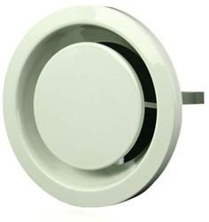 Ventilatie afvoer ventielen metaal 125 mm wit met klemveren - EFF125