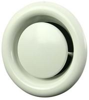 Ventilatie afvoer ventielen metaal 125mm wit met klemveren - DVS-C-1