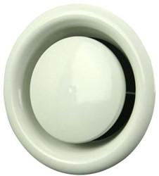 Ventilatie afvoer ventielen metaal 125mm wit met montagebus - DM125