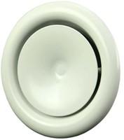 Ventilatie toevoer ventielen metaal 125mm wit met klemveren - PDVS-2-1