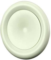 Ventilatie toevoer ventielen metaal 160mm wit met montagebus - DMP160