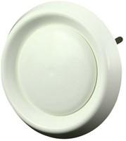 Ventilatie ventielen kunststof rond Ø100mm wit met klemveren - VDA100-1