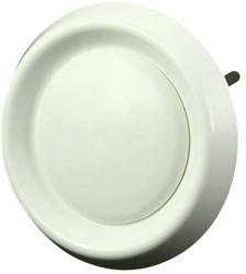 Ventilatie ventielen kunststof rond Ø125mm wit met klemveren - VDA125