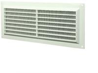 Ventilatierooster rechthoekig met grill 130x300 wit - VR1330-1