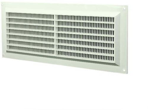 Ventilatierooster rechthoekig met grill 130x300 wit - VR1330