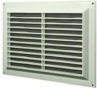 Ventilatierooster rechthoekig met grill 250x170 wit  - VR2517-1
