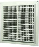 Ventilatierooster vierkant met grill 250x250 wit - VR2525-1