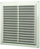 Ventilatierooster vierkant met grill 250x250 wit - VR2525