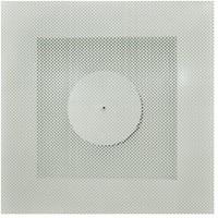 Vierkant rooster geperforeerd 125 mm voor systeemplafond - zijaansluiting-1