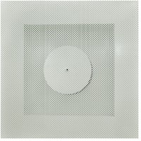 Vierkant rooster geperforeerd 200 mm voor systeemplafond - zijaansluiting