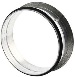 Vlakke aftakking 90° Ø 125mm voor spirobuis