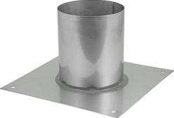 Vloerplaat Ø 130 - 200 mm gelaste opstand I304