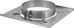 Vloerplaat diameter  80 - 150 mm met beugel I304