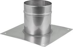 Vloerplaat Ø 130 - 200 mm opstand I304