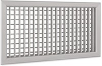 Wandrooster A-1-2 400x150-H-RAL9010 instelbaar