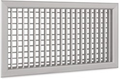 Wandrooster A-1-2 400x100-H-RAL9010 instelbaar