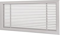 Wandrooster L-1-2 600x150-H-1-12,5-RAL9010