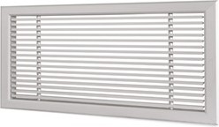 Wandrooster L-1-2 1000x100-H-1-12,5-RAL9010