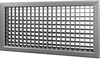 Wandrooster B-2-1 500x200-H instelbaar