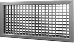 Wandrooster B-2-1 500x500-H instelbaar