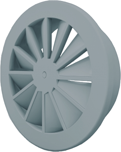Wervelrooster 160 mm met schroefbevestiging - mengkleur RAL 7001