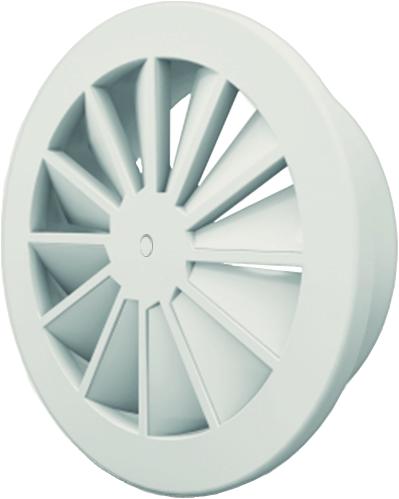 Wervelrooster 200 mm met schroefbevestiging en bovenaansluiting van 160 mm - mengkleur RAL 9003