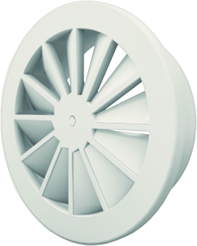 Wervelrooster 160 mm met schroefbevestiging - mengkleur RAL 9010