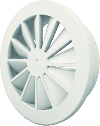 Wervelrooster 200 mm met schroefbevestiging en bovenaansluiting van 160 mm - mengkleur RAL 9016