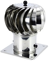 Windgedreven dakventilator Cowl 200 mm RVS inclusief plakplaat - 115m3/h-1