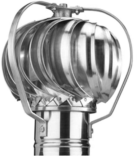 Windgedreven ventilator Penn 125mm aluminium - 44m3/h
