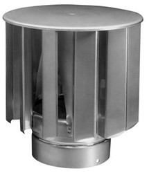 Windgedreven ventilator VT turbine 100mm RVS - 330m3/h