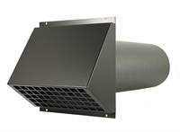 WTW HR Aluminium geveldoorvoer Ø150mm Zwart inclusief buis-1