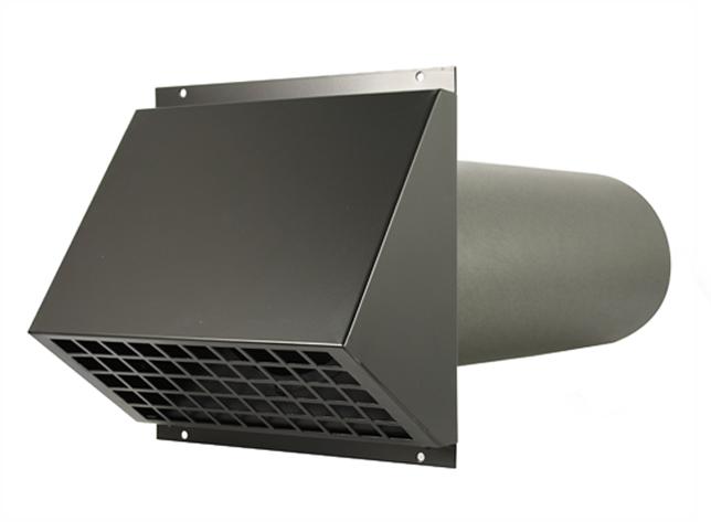 Dakdoorvoer Ventilatie Badkamer : Wtw hr aluminium geveldoorvoer Ø160mm zwart inclusief buis bij